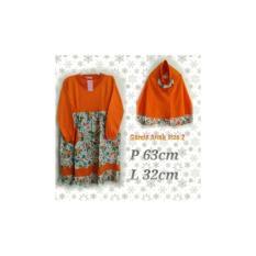 N2MS Baju Muslim Anak Perempuan / Baju Gamis Anak Plus Jilbab
