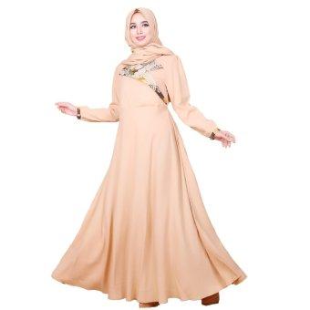 ... NN127 Dress Panjang Batik Busui ( Coklat Susu )   Lazada Indonesia