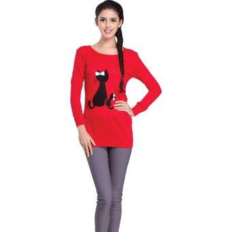 Nataria Brand Blouse Wanita LA 78650 - Merah