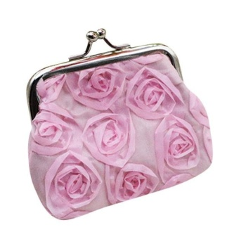 NBJU Woman Retro Wallet Mini Handbag Rose Wallet Coin Purse Clutch Handbag Bag -Pink - intl