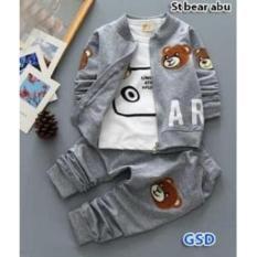 NCR-Baju Anak Laki-laki St Bear Abu