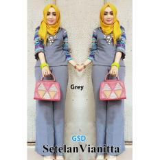 NCR-Setelan Baju Muslim Wanita Terbaru-Set Vianitta Grey
