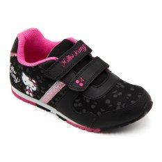ndo Sepatu Sneakers Anak Perempuan HK 1602 - Black/Fushia