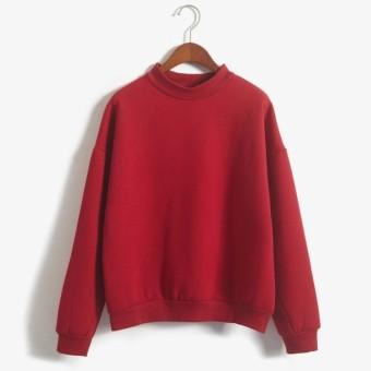 a9bf931f5f9 Harga white Autumn Spring Hoodies Warm Sweatshirt Women Plus Size ...