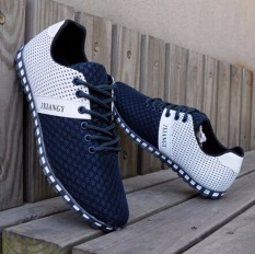 New England Men's Breathable Recreational Shoes Casual Lace Up Mesh Sport Shoes