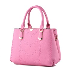 New Europe And The United States Style V Pattern PU Leather Single Shoulder Bag