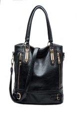 New Fashion Desigual Brand Vintage Leather Handbag Womens Tote Shoulder Messenger Bag Black
