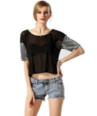 New Fashion Lady Women's Short Sleeve O-Neck Short T-Shirt