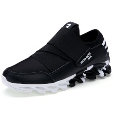 New Fashion Men Casual Shoes New Trending Style Mens Athletic Outdoor Sport Shoes (Black)