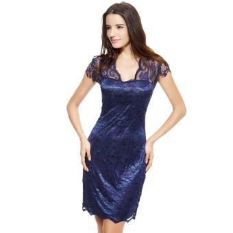 Dress Wanita · Midi Dress. New Fashion Women Dress Floral Lace V .