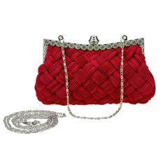New Fashion Women's Evening Bag Shining Rhinestone Handbag Shoulder Bag Clutch Bag With Chain (Red) - Intl