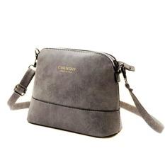 New Fashion Women's Messenger Bag Nubuck Leather Small Bags Scrub Shell Bag Over The Shoulder Womens Purses Handbags - Intl