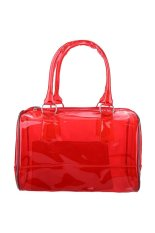 New Fashion Women's Tote Handbag Transparent Jelly Color Beach Bags Bucket Candy-colored Travel Bag (EXPORT)