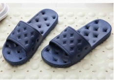 New Home Slippers Four Seasons Bath Water Leak Slippers Men and Women Soft Bottom Out of the Bathroom of the Bathroom Home Cool Dark Blue - intl