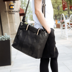 New Korean Men's Handbag Men Single Shoulder Bag Crossbody Bag Portable Business Bag Korean Business Men's Handbag Cool Bag -Black