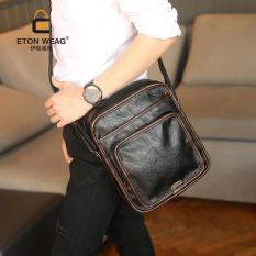New Men Crossbody Bag Single Shoulder Bag Fashion Fashion Men's Handbag Leisure Korean Vertical Leather Fashion Business Bag -Black - Intl