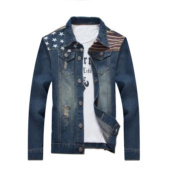 New Men's Casual Slim Denim Jacket