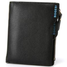 New Men's Fashion Wallet Leather Vintage Design Wallet Card Wallet - Black - intl