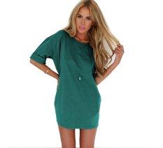 New Sexy Women Summer Casual Sleeveless Evening Party Cocktail Short Mini Dress L1003-Green (Intl)