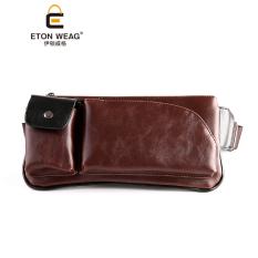 New Single bahu bag pria sekolah tua dada bag crossbody bag tas olahraga tas pinggang kecil maupun tas tangan pria Korea keren - Kopi