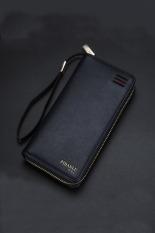 New Style Mens Wallet Business Zipper Purse Large Capacity Men Handbag Blue 3