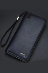New Style Mens Wallet Business Zipper Purse Large Capacity Men Handbag Blue 4