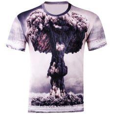 New Summer Casual Men T-Shirts 3D Cotton Blend Men's O-neck Short Sleeve Code C (Intl)