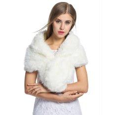 New Women Elegant Fleece Faux Fur Shawl Shrug Soft Wedding Party Festival Scarf - Intl