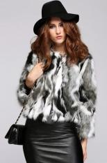 New Women's Ladies Fashion Elegant High Quality Faux Fur Long Sleeve Warm Thickening Jacket Coat