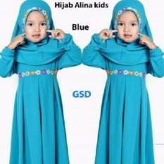 Nicer-Baju Muslim Gamis Anak Alina Blue
