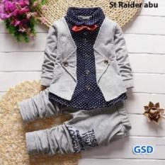 Nicer-Baju Setelan Anak Laki-laki-Set Raider Grey