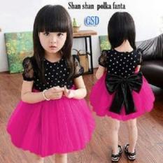 Nicer-Minidress Imut Anak Cewe-Dress Shan Shan Pink