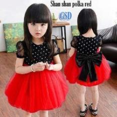 Nicer-Minidress Imut Anak Cewe-Dress Shan Shan Red
