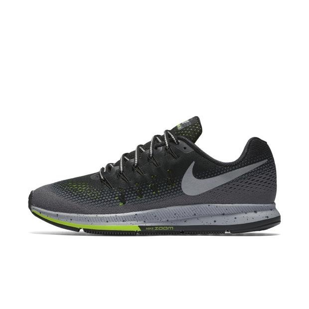 NIKE MEN AIR ZOOM PEGASUS 33 SHIELD RUNNING SHOE BLACK 849564-001 US7-11 11' - intl