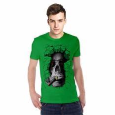 NSClothing Kaos 3D Kaos 3D Skull Rock - Hijau Tua