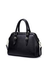 NUCELLE 1170567-01 Satchel Shoulder Handbag Tote Elegant Women Fashion (Black)