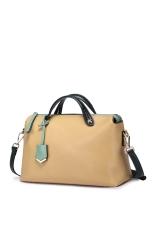 NUCELLE 1170583-21 Cow Leather Purse Satchel Shoulder Bag Handbag Beige