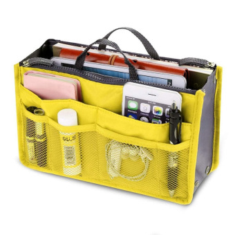 Nylon Cosmetic Makeup Bags Organizer Storage Bag Pouch HolderYellow