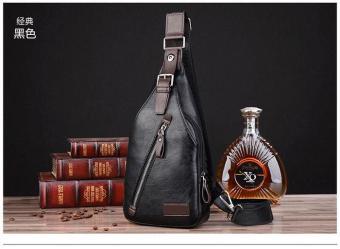 OBRAL Tas Selempang Kulit Pria/ Sling Bag/ Body Bag (BLACK) TERMURAH