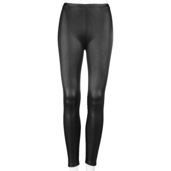 20f9dfa37fd68 OH Fashion Style Tights Women Sexy Wet Look Shiny Faux Leather Leggings  Pants