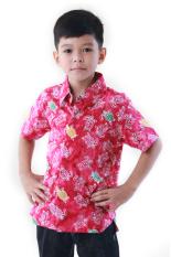 Oktovina-HouseOfBatik Hem Batik Katun Anak - Kids Batik HAKKR-2 - Merah