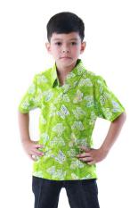 Oktovina-HouseOfBatik Hem Batik Katun Anak - Kids Batik HAKKU-2B - Hijau