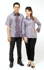 Oktovina-HouseOfBatik Kemeja & Blus Batik - Batik Couple KBKC-13 - Kelabu