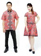 Oktovina-HouseOfBatik Kemeja & Dress Batik - Jingga - Batik Couple KSDKC-12