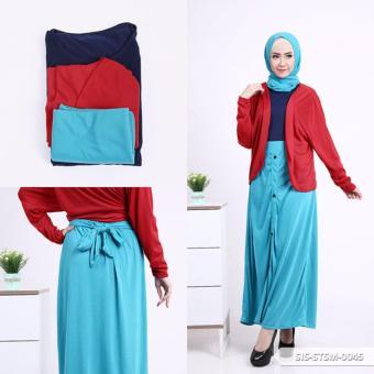 Omah Fesyen Alice Two Tone A Line Muslim Set - Tosca