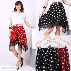 Omah Fesyen Verany Love Flare Midi Skirt - Maroon Int: One size