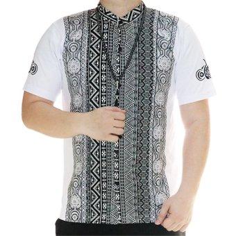 Ormano Baju Koko Muslim Pendek Eksklusif N38 Putih