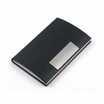 Ormano Dompet Kartu Binder Tempat ATM Kartu Kredit KTP Business IDName Card Wallet Water Proof Metal Aluminium Stainless Steel HolderPocket Case Aksesoris Fashion Pria Wanita Kerja Kantor Anti Air danKarat - Hitam