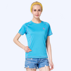 Outdoor Short Sleeve Hiking Breathable T-shirts (Sky Blue) (Intl)