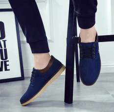 Outlet New Lace Canvas Casual Shoes Blue - Intl